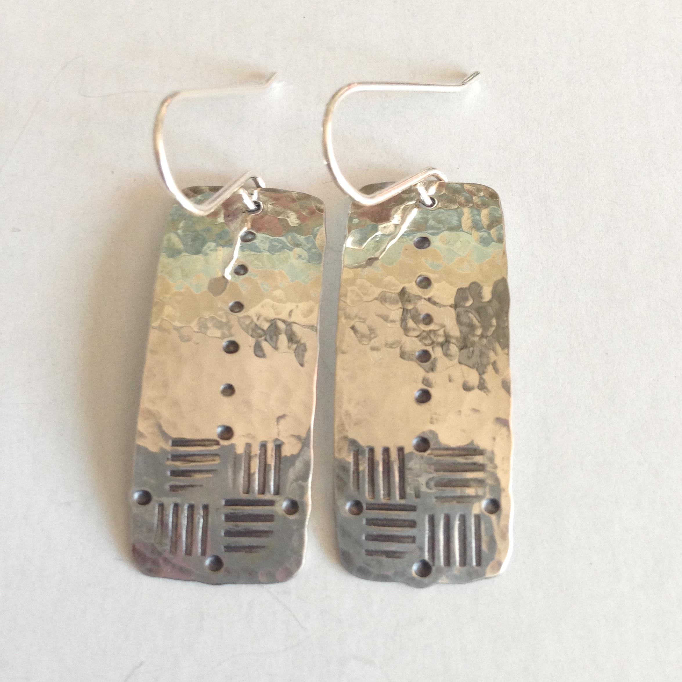weave-texture-rectangle-earrings