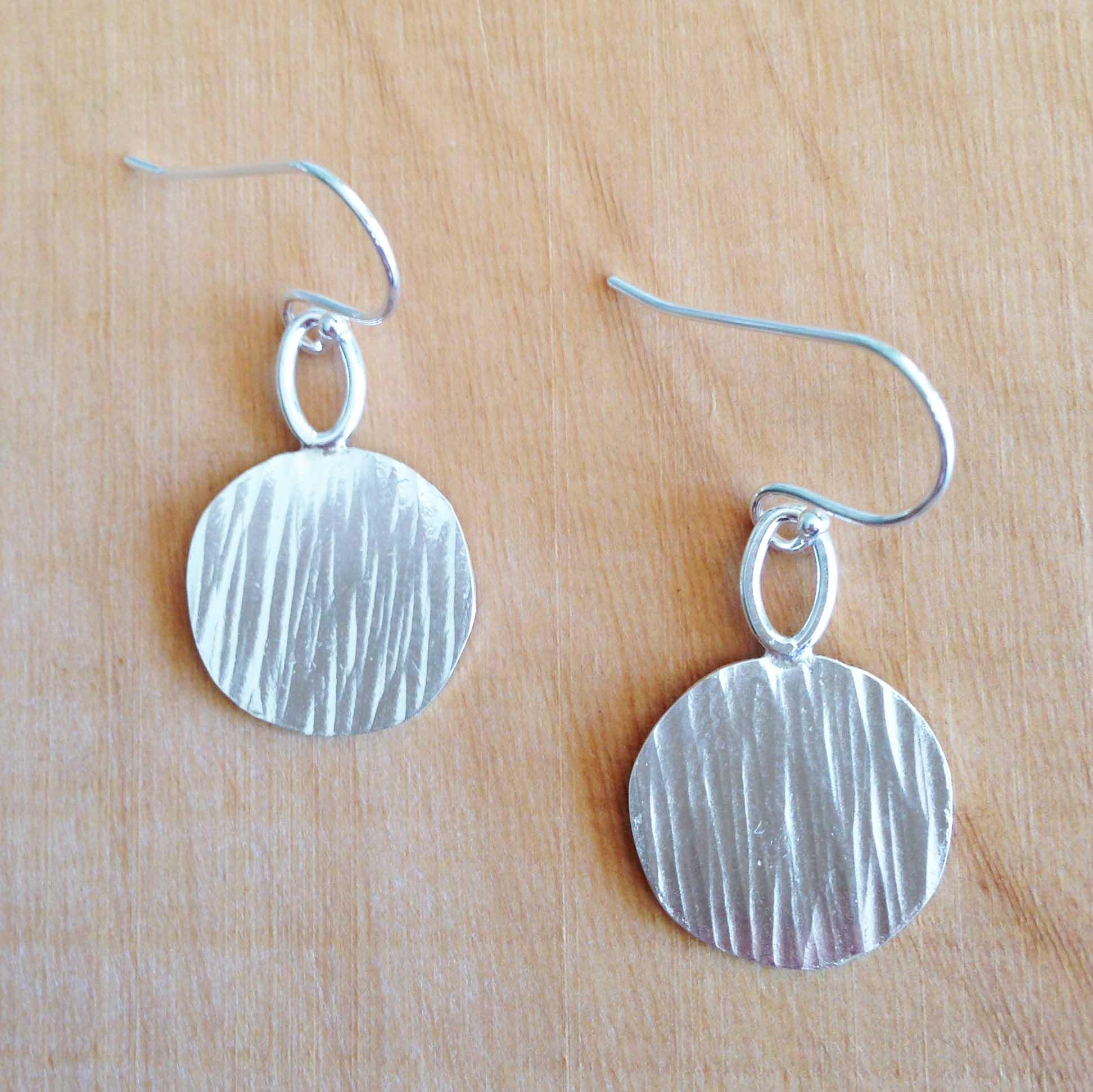 barktextured-disc-earrings