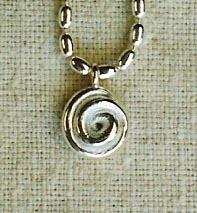 Silver Operculum Pendant