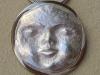 Silver Halo Moon Pendant